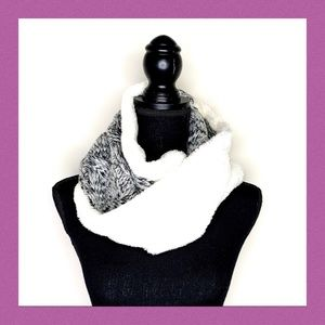 Faux Fur and Knitted Infiniti Scarf
